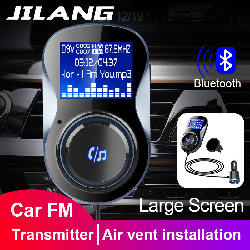 Jilang Auto MP3 Player Audio Adapter FM Transmitter Bluetooth Hände-freies FM Modulator Ster Unterstützung TF für iPhone & Android