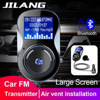 Jilang Auto MP3 Player Audio Adapter FM Transmitter Bluetooth Hände-freies FM Modulator Ster Unterstützung TF für iPhone & Android