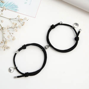 2020 Fashion 2pcs/set Paired Bracelet For Lovers Distance Magnet Couple Braslet Women