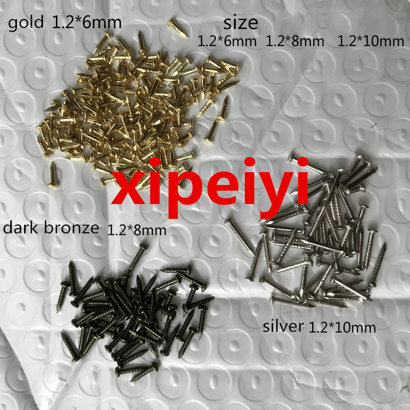 Length 6mm/8mm/10mm Furniute Hardware Fastener Nails For Wooden Work Nail Hardware Accessories Silver/Bronze/Gold