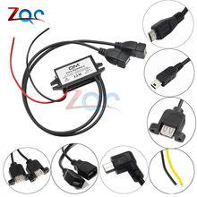 Convertisseur de puissance pour voiture, 12V à 5V, 3A, 15W, Micro USB, tension abaisseur, adaptateur de sortie, faible chaleur, Protection automatique