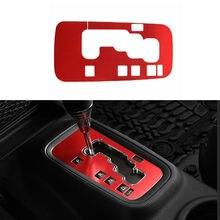 Для Jeep Wrangler JK 11-17 алюминиевый сплав красная панель переключения передач рамка накладка