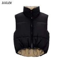 Za для женщин парки Детские куртки для девочек пальто армейского зеленого цвета, новинка, жилет женский куртки без рукавов черного цвета Вер...