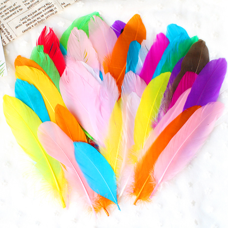 Kindergarten Handmade Toys with Colored Feathers DIY Material Paste Decorative Children Creative Art and Labor Course Material