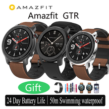 Amazfit GTR 47mm Smart Watch Xiaomi Huami 5ATM Waterproof Sports Smartwatch 24 Days Battery Music Control With GPS Heart Rate цена и фото