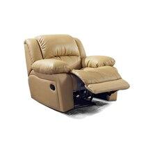 Антикварное Европейское креативное кресло из натуральной коровьей кожи, одноместный диван для гостиной, вращающееся кресло, функциональное кресло