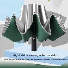 DMBRELLA Titanium Silver Coating Automatic Umbrella Men Women UV Protection 10ribs Windproof Folding Compact Travel Umbrellas