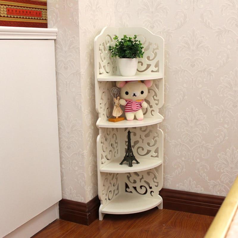 Support de rangement d'angle Baroque etagère de rangement gravée percée etagere de rangement meuble Style européen blanc modèle bois sanglier