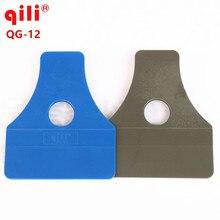 120pcs/lot Qili QG-12 DHL Practical Grey/Blue Trapezoidal Carbon Fiber Sticker Squeegee Window Film Installation Tint Scraper