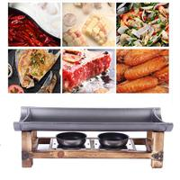 Alcohol Grill Aluminium Bamboo Ceramic Plate Grilled Fish Oven