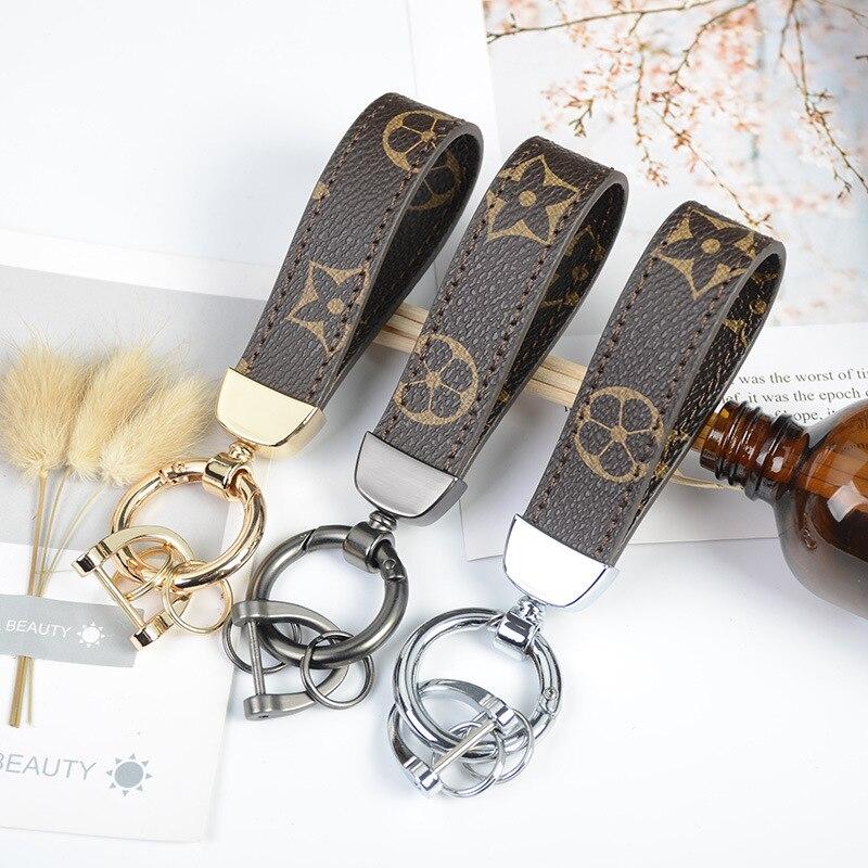 2019 New Fashion  Metal  Leather Key Car Bag Key Clip Fashion Hot Sale Key Chain Ladies Men's Handmade Accessories Gift