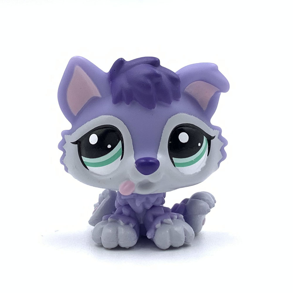 <font><b>LPS</b></font> <font><b>CAT</b></font> Rare Animal Pet Shop Toys Puppy Dog Husky <font><b>Baby</b></font> #1810 Purple Dog with Green Eyes Present for Kids Gifts image