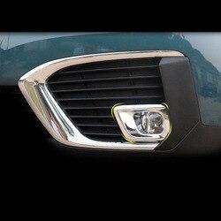Lsrtw2017 Abs samochód przedni Foglight rama wykończenia dla Peugeot 5008 2019 2020 wyposażenie wnętrz Chrome stylizacji Auto