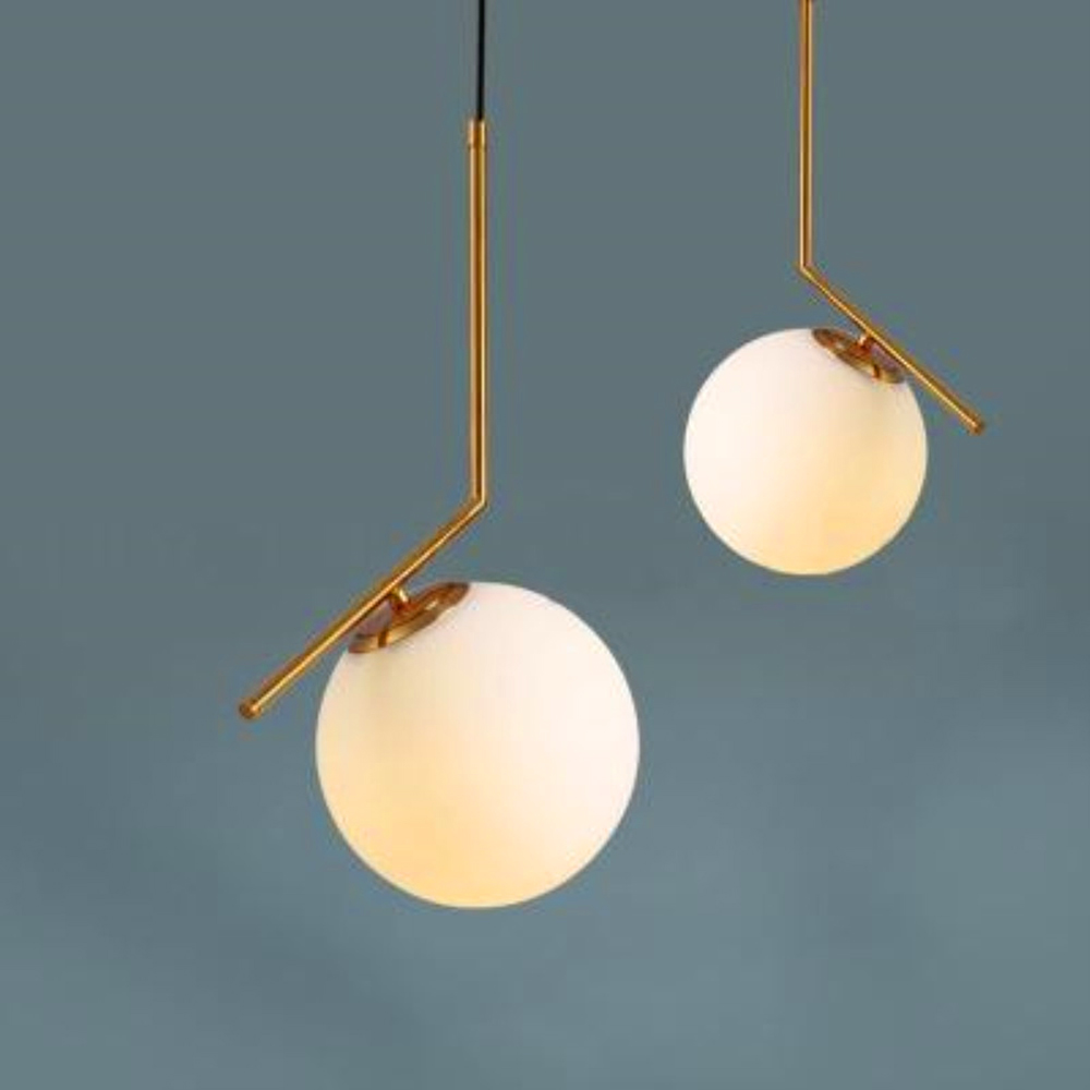 Nordic Modern Pendant Lights Italy Design LED IC Light Floor Simple Glass Ball Luxury Golden Lamp For Foyer Bedroom Bedside