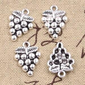 20 stücke Charms Obst Trauben 19x14mm Handgemachte Handwerk Anhänger Herstellung fit,Vintage Tibetischen Silber farbe, DIY Für Armband Halskette