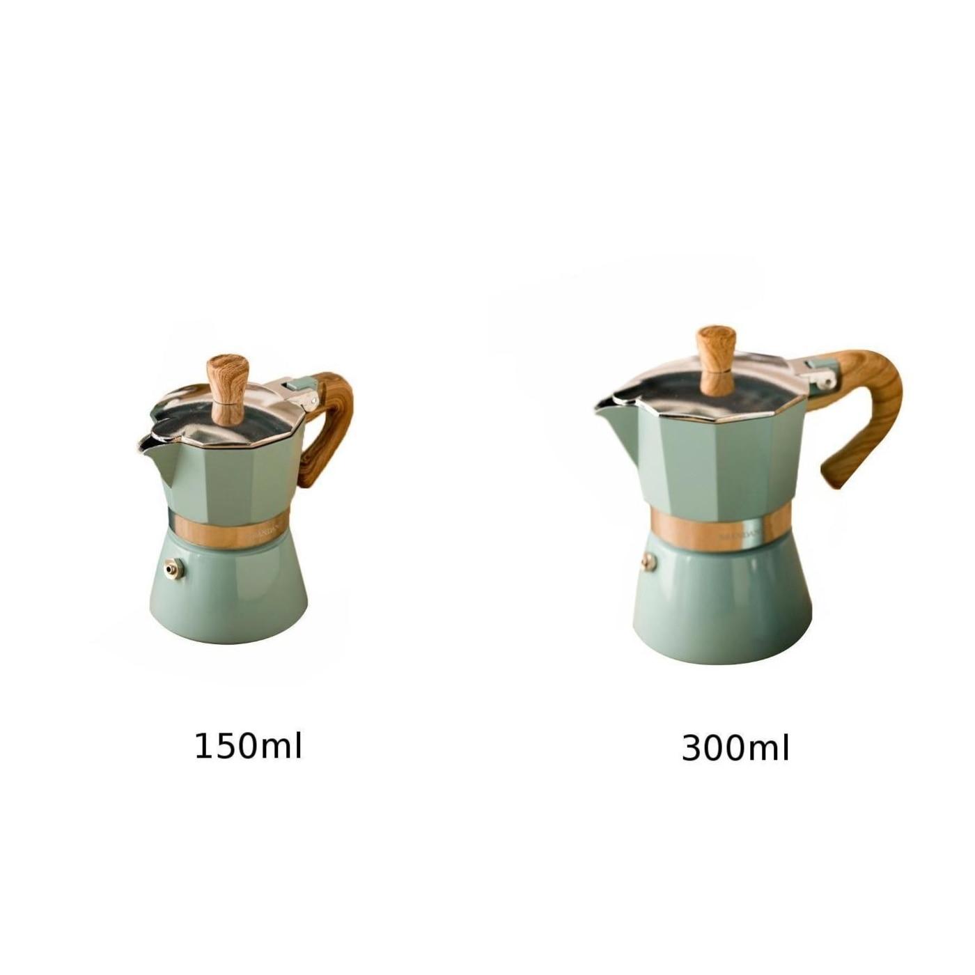 150 ml 6 Tazas Hedear Cafetera 300 ml Cafetera Italiana de Aluminio Mocha Cafetera para Compartir en casa Extracci/ón del Filtro Cafetera Cafetera Espresso 3 Tazas