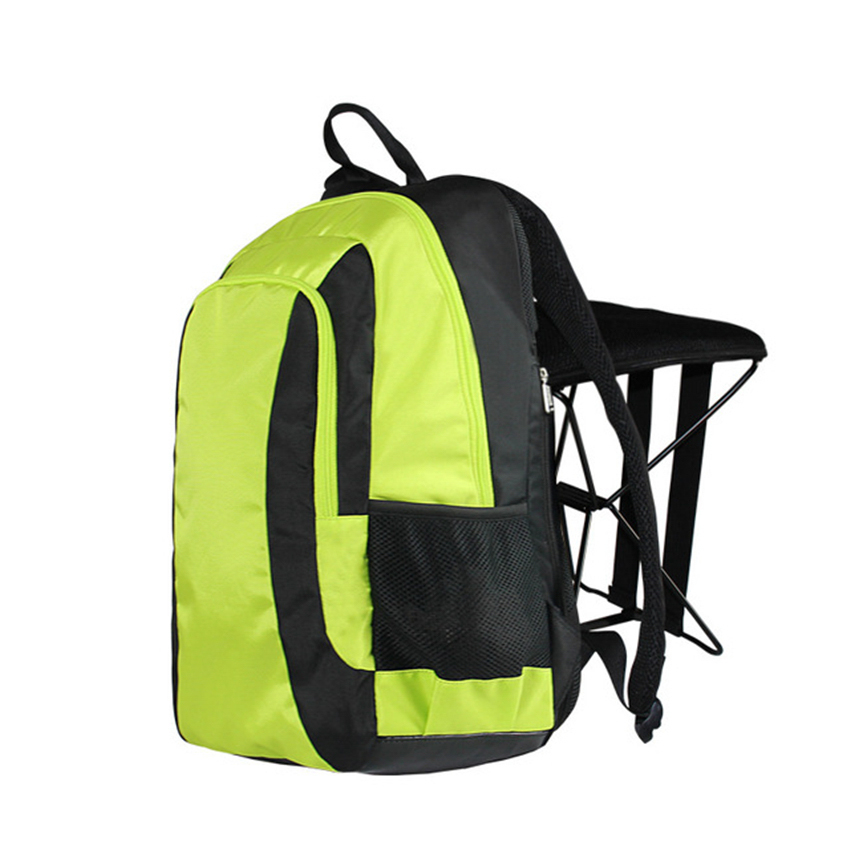 C1338 47L Folding Stool Backpack Fashion Folding Fishing Chair Backpack  Leisure Sports Outdoor Mountaineering Hiking Backpack