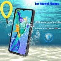 Funda impermeable para Huawei P40, P30 Pro, P20 Lite, Mate 30 Pro, carcasa a prueba de agua IP68, natación, deportes al aire libre, anticaída