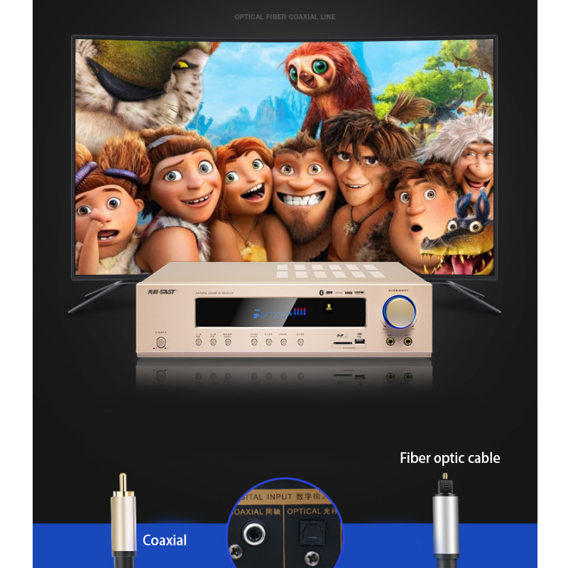 5.1 Channel Home Theater Ktv High Power AV Digital <font><b>Hifi</b></font> <font><b>Amplifier</b></font> Subwoofer SD USB <font><b>800W</b></font> 220V AK-558 Bluetooth <font><b>Amplifier</b></font> image
