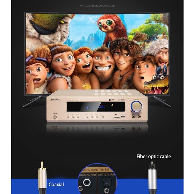 5.1 Kanaals Home Theater Ktv High Power Av Digitale Hifi Versterker Subwoofer Sd Usb 800W 220V AK 558 Bluetooth versterker