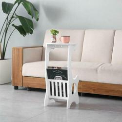 White Small Round End Side Accent Coffee Table Bedroom Living Room NEW