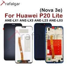 شاشة ترافالغار لهاتف هواوي P20 لايت شاشة LCD Nova 3e Ane lx1 Lx3 شاشة تعمل باللمس لهاتف هواوي P20 لايت مع إطار