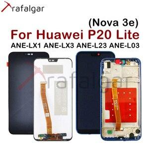 Image 1 - Trafalgar Display For HUAWEI P20 Lite LCD Display Nova 3e Ane lx1 Lx3 Touch Screen for HUAWEI P20 Lite Display with Frame