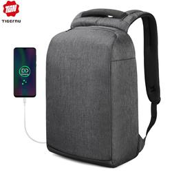Tigernu Anti theft Male Backpack Splashproof Antifreeze 15.6 Inch Laptop Backpacks with USB Charging Travel Men Mochila Bagpack