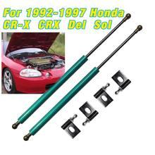 Ammortizzatore per 1992-1997 Honda CR-X CRX Del Sol cofano anteriore puntoni a Gas supporto di sollevamento molla ammortizzatore caricato in fibra di carbonio