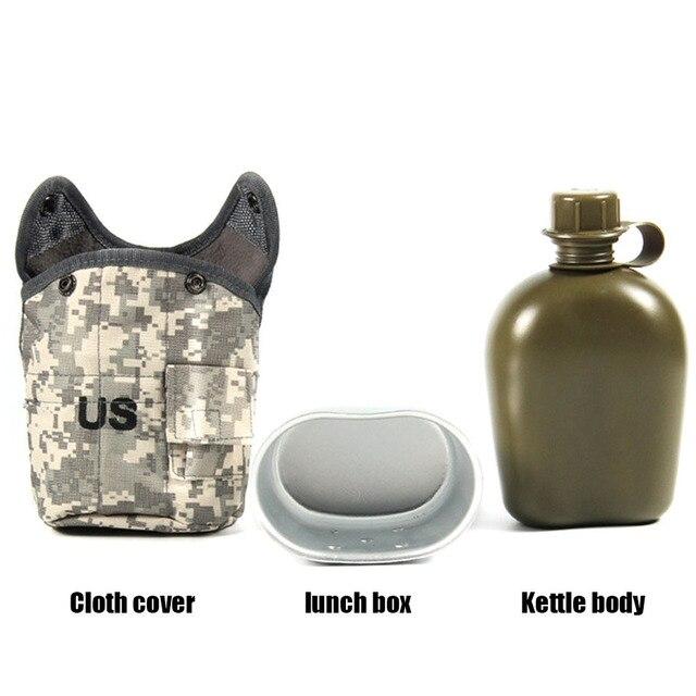 CNDRAGON Brand Large Capacity 1000ml Kettle sport Outdoor travel Bottle Portable Folding water bottle military camouflage bag 2