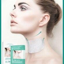 ILISYA Ectoin Anti-wrinkle Neck Mask Hydrating Collagen Neck Patch Anti-Wrinkle Anti-Aging Neck Pad Wrinkle Removal-5 PCS