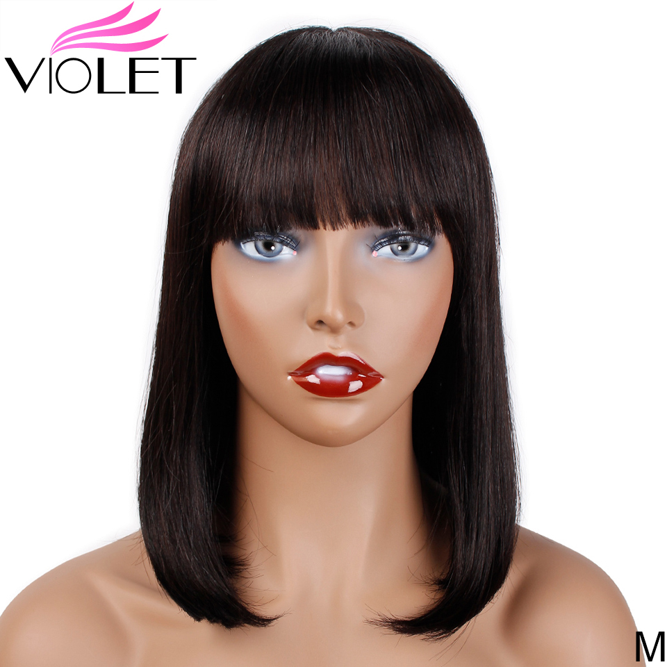 VIOLET Peruvian Straight Wig Middle Ratio 12