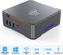 Gk3v mini pc intel celeron j4125 quad core 8gb ram 128gb/256gb windows 10 wifi duplo, 4k 60hz win10 duplo hdmi vga desktop pc htpc