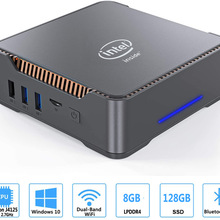 Desktop PC HTPC Intel Celeron WIN10 GK3V J4125 Dual-Hdmi Quad-Core 8GB 60hz VGA 4K 128GB