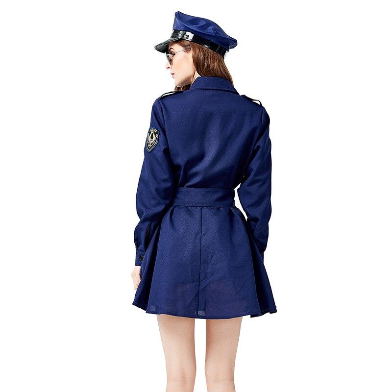 Sexy feminino polícia de trânsito policial uniforme