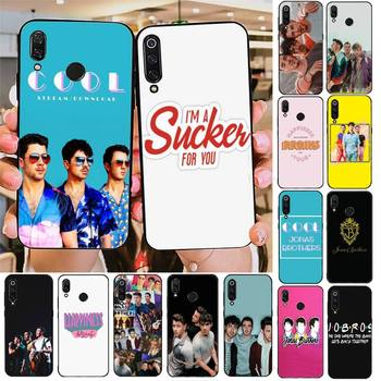 TOPLBPCS Jonas Brothers Phone Case For Redmi note 8Pro 8T 9 Redmi note 6pro 7 7A 6 6A 8 5plus note 9 pro case image