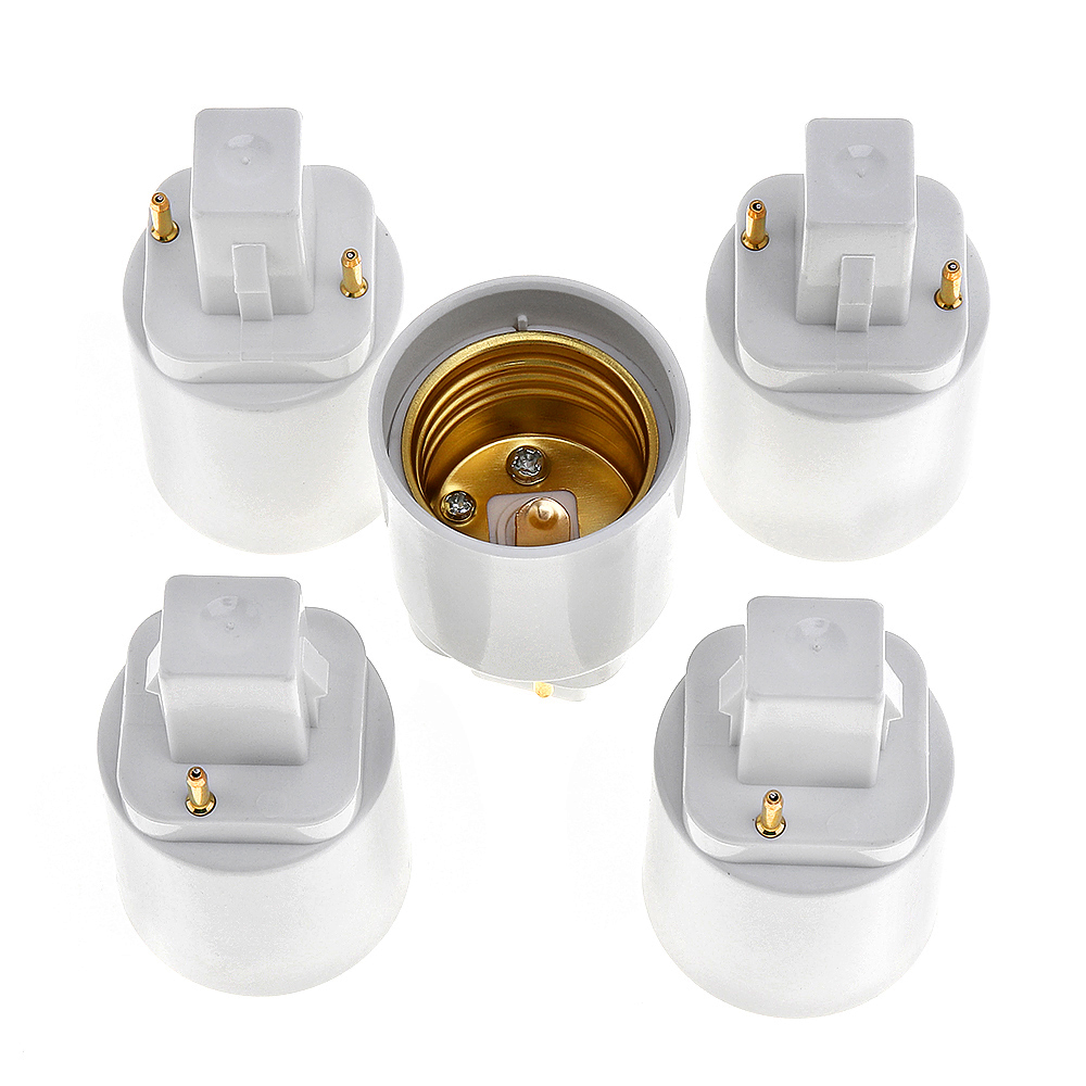 3pcs G24d 2Pin To E26E27 Fire-proof PBT Housing Copper Contact 250V2A Light Socket CFL Lamp Base Holder Adapter Converter Change