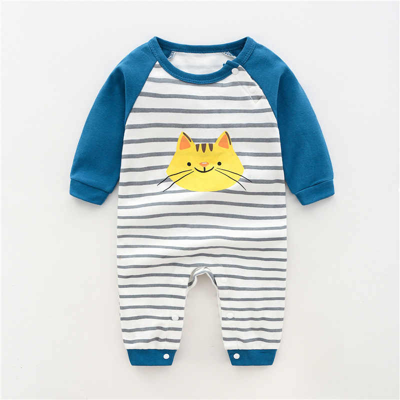 Autumn And Winter New Baby Romper Boys Girls Long Sleeve Jumpsuit Cotton Casual Newborn Clothes