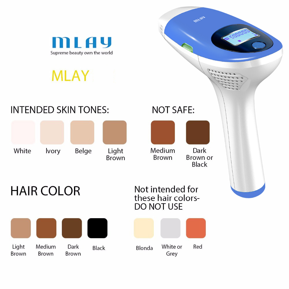 Hot DealsMLAY Bikini Trimmer Epilator Hair-Removal-Machine IPL Facial-Laser 500000 Flashes
