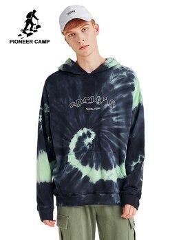 Pioneer Camp 3D Hoodies Men Youth 2019 Fashion Designer Dye Casual Autumn Thick Sweatshirt with Hood Men AWY901692