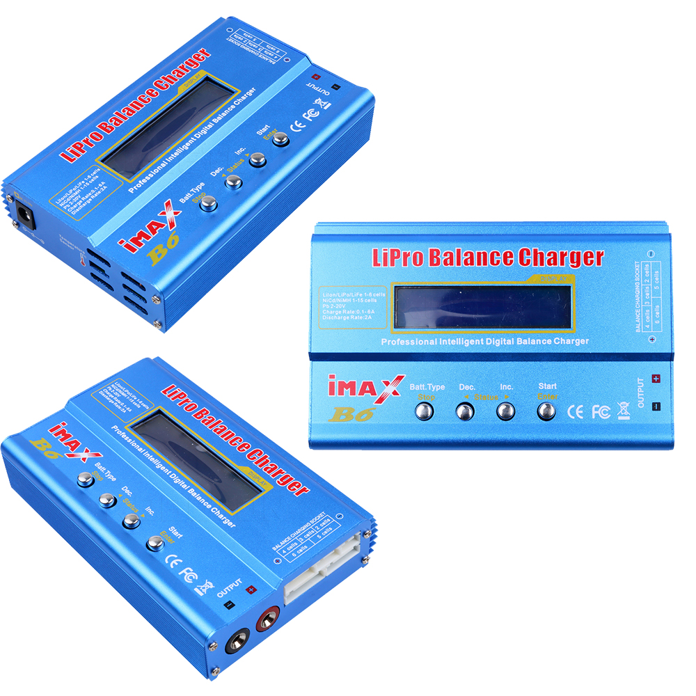 Image 5 - 1pcs Digital IMAX B6 80W Lipo Battery Balance Charger With T Plug/XT60 Plug/Tamiya Plug/Mini Tamiya Plug for RC Quadcopterlipo battery balance chargerbalance chargerimax b6 80w -