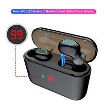 HBQ TWS Auricolare Bluetooth di Tocco di Controllo Mini Auricolari Con Il Mic Display A LED Di Potenza di Carica Box Wireless 3D Stereo Gioco di Musica auricolare