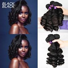 Preto cru indiano tecer cabelo parte superior onda solta pacotes cor natural 1/3/4 pçs/lote 100% pacotes de cabelo humano remy extensões do cabelo