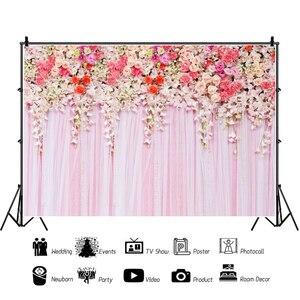 Image 3 - Yeele düğün töreni 3D çiçekler dekor ağacı mor fotoğraf arka planında kişiselleştirilmiş fotoğraf fotoğraf stüdyosu için arka planlar
