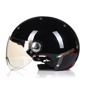 Image 5 - 2020 beonオートバイヘルメット男性女性カスコモトハーフフェイスヘルメットバイクヘルメットモトクロスモトヘルメットクラッシュハーフフェイスカスコモト