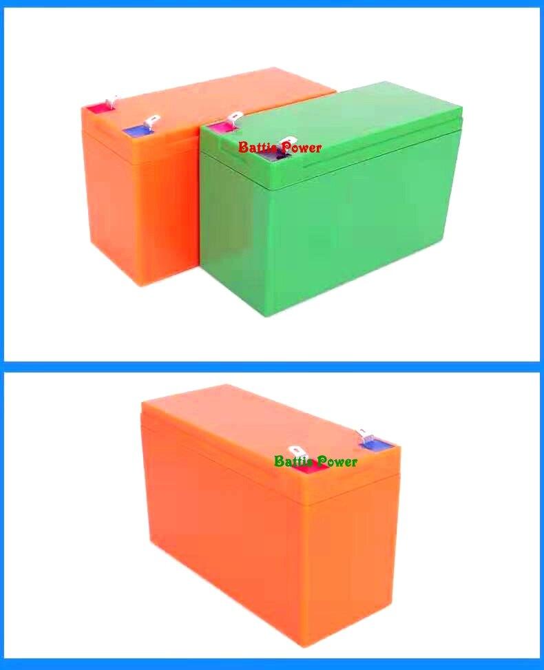 12V7Ah电动喷雾器锂电池全新ABS塑料防水外壳装18650电芯21只盒子