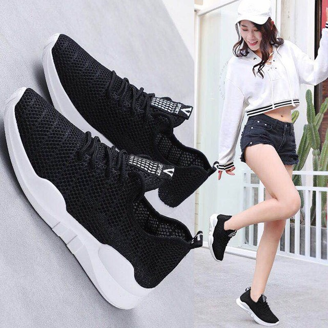 حذاء نسائي كاجوال موضة تنفس المشي شبكة حذاء مسطح امرأة بيضاء أحذية رياضية النساء رياضة Feminino رياضة أحذية رياضية A3094 2