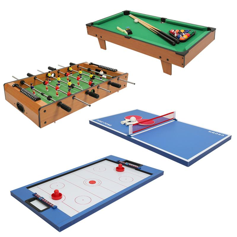 Large Four-in-one Multifunctional Game Table Ping Pong Billiards Hockey Football Adult Children Entertainment Toys HWC