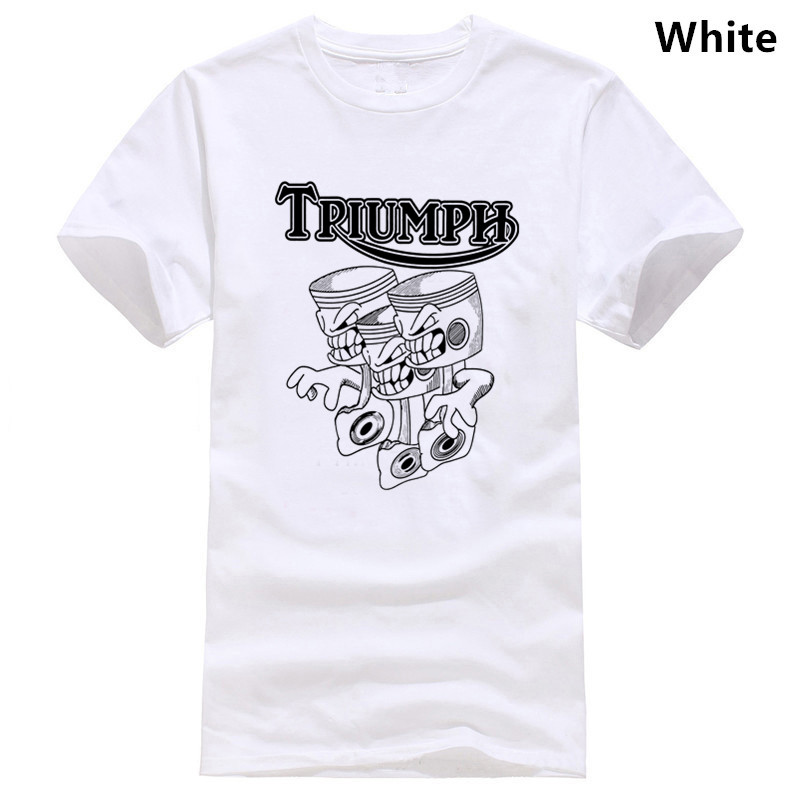 Triumph Triple Motorcycle T-Shirt Retro Vintage Style Gift Size Small To