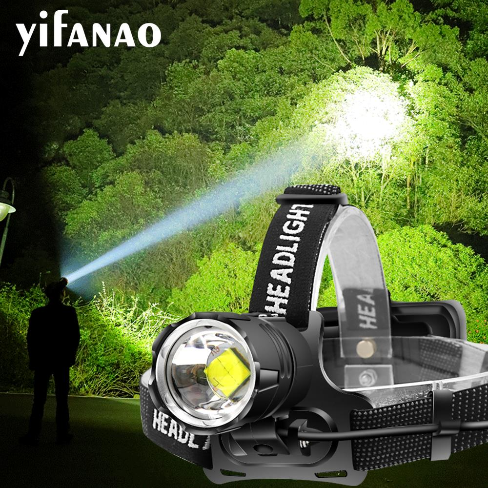 7000LM XHP70.2 LED Headlamp XHP50 Headlight 18650 Xlamp USB Rechargeable Camping Torch Super Bright V6 Hunting Lamp Waterproof